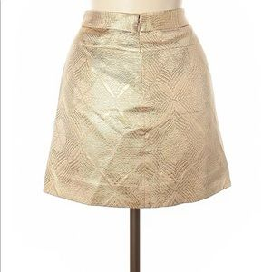 J crew collection sz 0 gold textured mini skirt